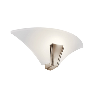 Kichler Oviedo Collection Wall Sconce 1 Light Fluorescent in Polished Nickel