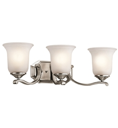 Kichler Wellington Square Collection Bath 3 Light in Classic Pewter