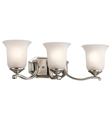 Kichler 45403CLP Wellington Square Collection Bath 3 Light in Classic Pewter