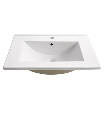 "Fresca  FVS6224WH Torino 24"" White Integrated Sink with Countertop"