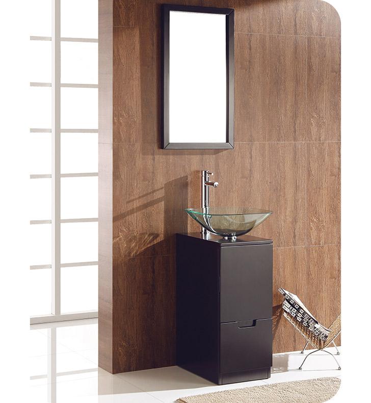 Fresca fvn6117es brilliante 17 espresso modern bathroom for Decorplanet bathroom vanities