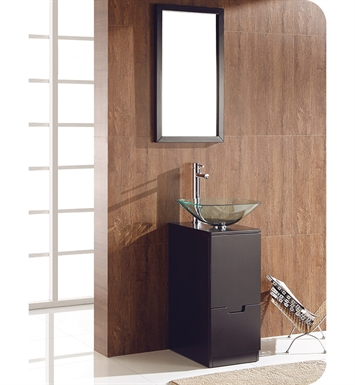 Fresca Brilliante Espresso Modern Bathroom Vanity with Mirror