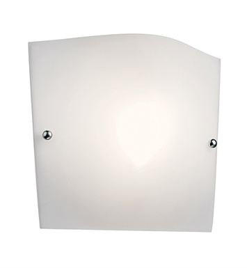 Kichler 10428SN Virden Collection Wall Sconce 1 Light Fluorescent in Satin Nickel