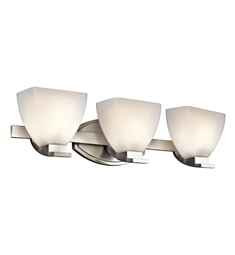 Kichler Claro Collection Bath 3 Light in Brushed Nickel