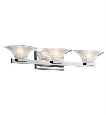 Kichler 45038CH Tulare Collection Bath 3 Light in Chrome