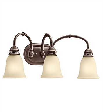 Kichler 45066OZ Durham Collection Bath 3 Light in Olde Bronze