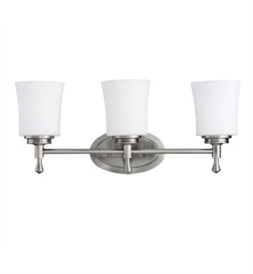 "Kichler 5361NI Wharton 3 Light 22"" Incandescent Wall Mount Bath Light in Brushed Nickel"