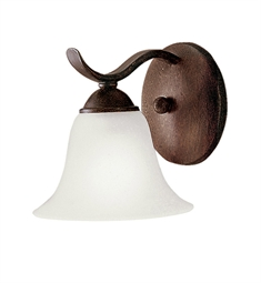 Kichler Dover Collection Wall Sconce 1 Light Fluorescent in Tannery Bronze