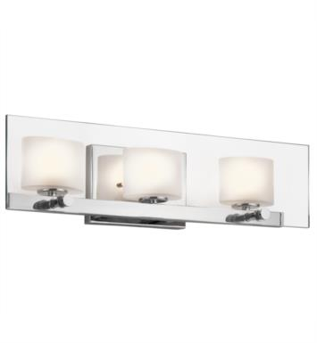 "Kichler 45172CH Como 3 Light 21 3/4"" Halogen Wall Mount Bath Light in Chrome"