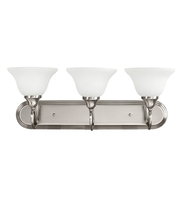 Kichler 5558AP Stafford Collection Bath 3 Light in Antique Pewter