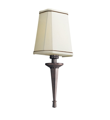 Kichler 10656RBZ Paramount Collection Wall Sconce 1 Light Fluorescent in Royal Bronze