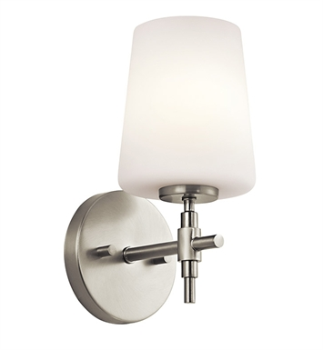Kichler 45385NI Arvella Collection Wall Sconce 1 Light in Brushed Nickel