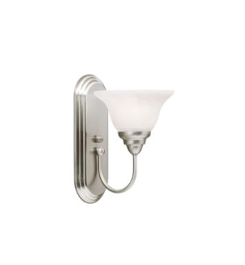 "Kichler 10604NI Telford 1 Light 7 1/2"" Compact Fluorescent Wall Sconce in Brushed Nickel"