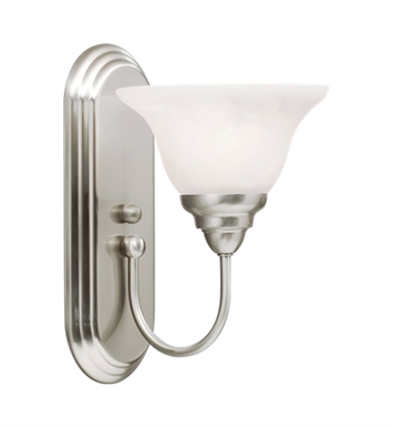 Kichler 10604NI Telford Collection Wall Sconce 1 Light Fluorescent in Brushed Nickel