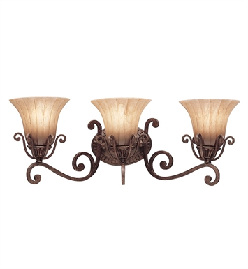 Kichler 5057CZ Cottage Grove Collection Bath 3 Light in Carre Bronze