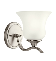 Kichler Wedgeport Collection Wall Sconce 1 Light Fluorescent in Brushed Nickel