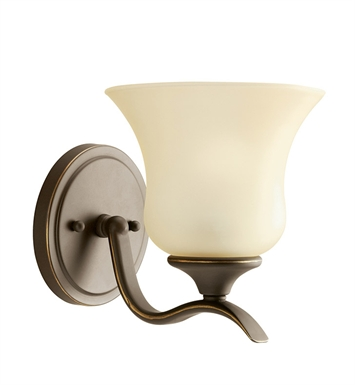Kichler 10636OZ Wedgeport Collection Wall Sconce 1 Light Fluorescent in Olde Bronze