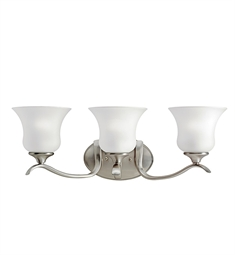 Kichler Wedgeport Collection Bath 3 Light Fluorescent in Brushed Nickel
