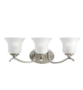 Kichler 10638NI Wedgeport Collection Bath 3 Light Fluorescent in Brushed Nickel