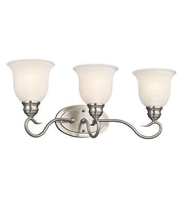 Kichler 45903NI Tanglewood Collection Bath 3 Light in Brushed Nickel