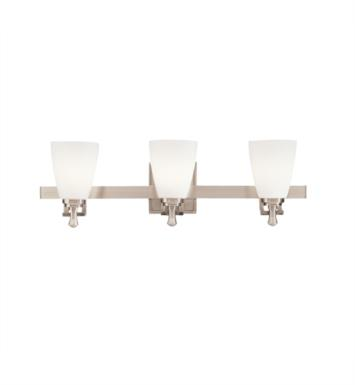 "Kichler 5403NI Uptown 3 Light 24"" Incandescent Wall Mount Bath Light in Brushed Nickel"