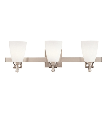 Kichler 5403NI Uptown Collection Bath 3 Light in Brushed Nickel
