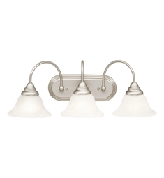 Kichler Telford Collection Bath 3 Light Fluorescent in Brushed Nickel