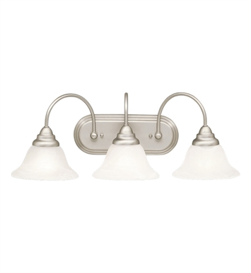 Kichler 10609NI Telford Collection Bath 3 Light Fluorescent in Brushed Nickel