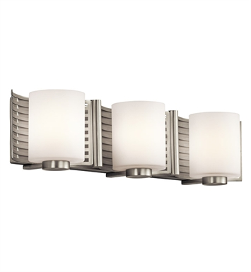 Kichler 45433NI Bath 3 Light Halogen in Brushed Nickel