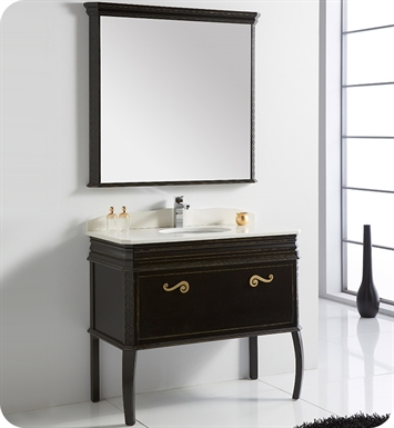 "Fresca Platinum FPVN7526AB London 39"" Antique-Black Bathroom Vanity"