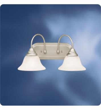 "Kichler 10608NI Telford 2 Light 18 1/4"" Compact Fluorescent Wall Mount Bath Light in Brushed Nickel"