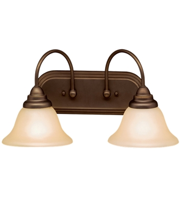 Kichler 10608OZ Telford Collection Bath 2 Light Fluorescent in Olde Bronze