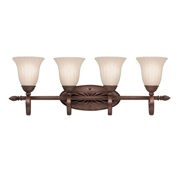 Kichler 5929TZ Willowmore Collection Bath 4 Light in Tannery Bronze