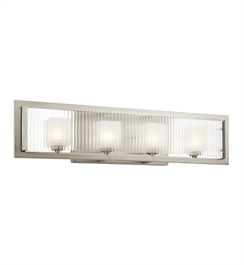 Kichler 45444NI Rigate Collection Bath 4 Light Halogen in Brushed Nickel