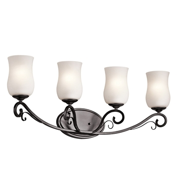 Kichler 45468SMG Kambry Collection Bath 4 Light in Dark Brown