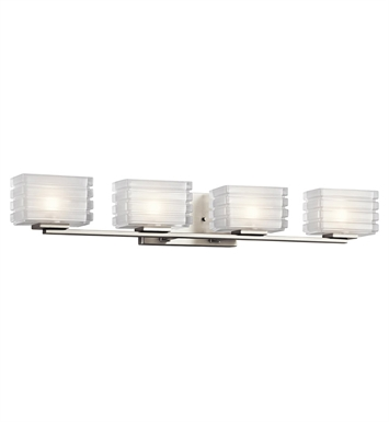 Kichler 45480NI Bazley Collection Bath 4 Light in Brushed Nickel