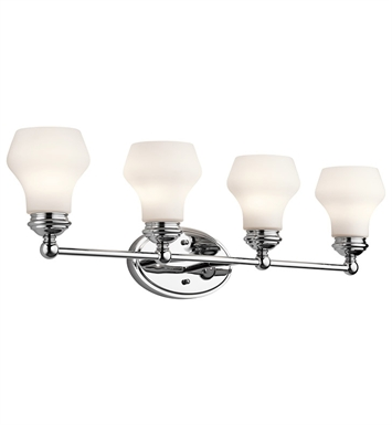 Kichler 45489CH Currituck Collection Bath 4 Light in Chrome