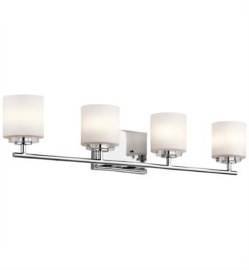 "Kichler 45503CH O Hara 4 Light 31"" Halogen Wall Mount Bath Light in Chrome"