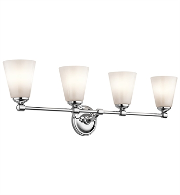 Kichler 45520CH Ashbrook Collection Bath 4 Light in Chrome