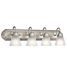 Kichler Bath 4 Light in Brushed Nickel