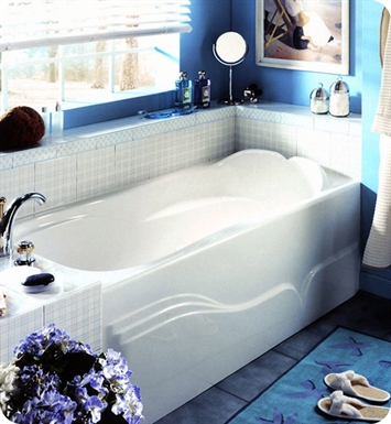 Neptune DA60TG Daphne Customizable Bathroom Tub With Skirt With Jet Mode: Whirlpool Jets And Drain Position: Left Side - Integrated Tiling Flange