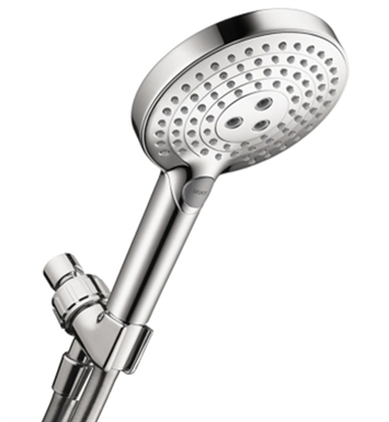 Hansgrohe 04543820 Raindance Select S 120 Green 3-Jet Handshower, 2.0 GPM With Finish: Brushed Nickel