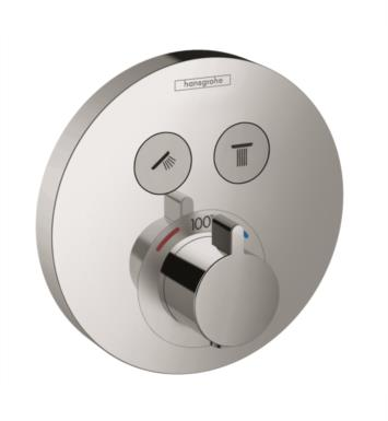"Hansgrohe 15743 5 7/8"" ShowerSelect Round Thermostatic Dual Function Trim"