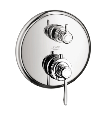 Hansgrohe 16801821 Axor Montreux Thermostatic Trim with Volume Control, Lever Handle With Finish: Brushed Nickel