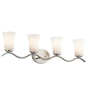 Kichler 45377NI Armida Collection Bath 4 Light in Brushed Nickel