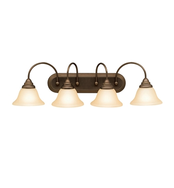 Kichler 5994OZ Telford Collection Bath 4 Light in Olde Bronze