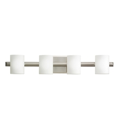 Kichler Tubes Collection Bath 4 Light Halogen in Brushed Nickel