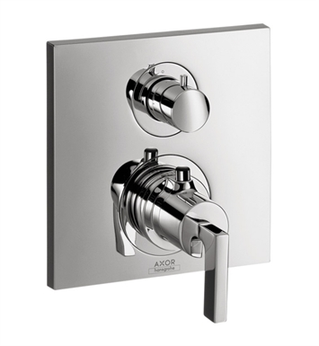 Hansgrohe 39720001 Axor Citterio Thermostatic Trim with Volume Control and Diverter With Finish: Chrome