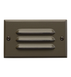 Kichler LED Step Light Horiz. Louver in Architectural Bronze