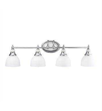 "Kichler 5370CH Pocelona 4 Light 33"" Incandescent Wall Mount Bath Light in Chrome"